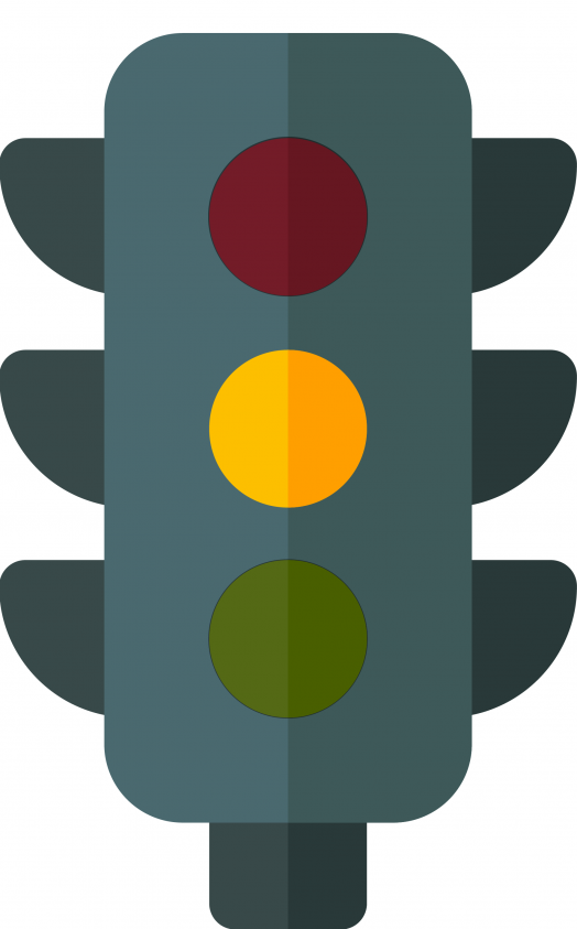 yellow stop light